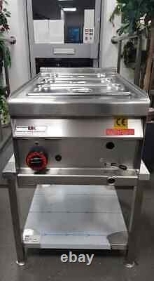 (gpl Propane Gas) 3 Pot/pan Table/counter-top Wet Bain Marie (heavy Duty)